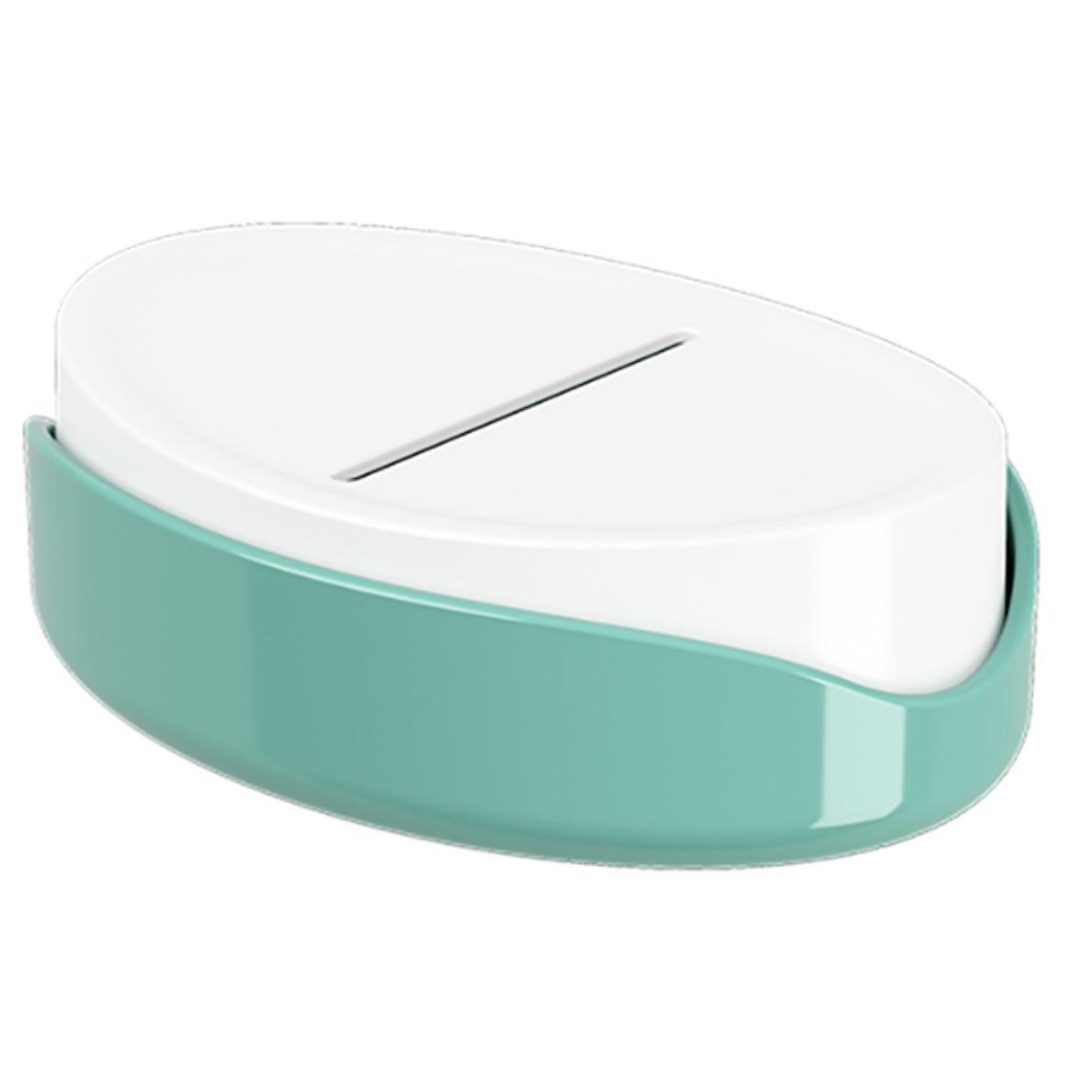 Saboneteira Bancada Plastico Oval Verde 10445 - Coza