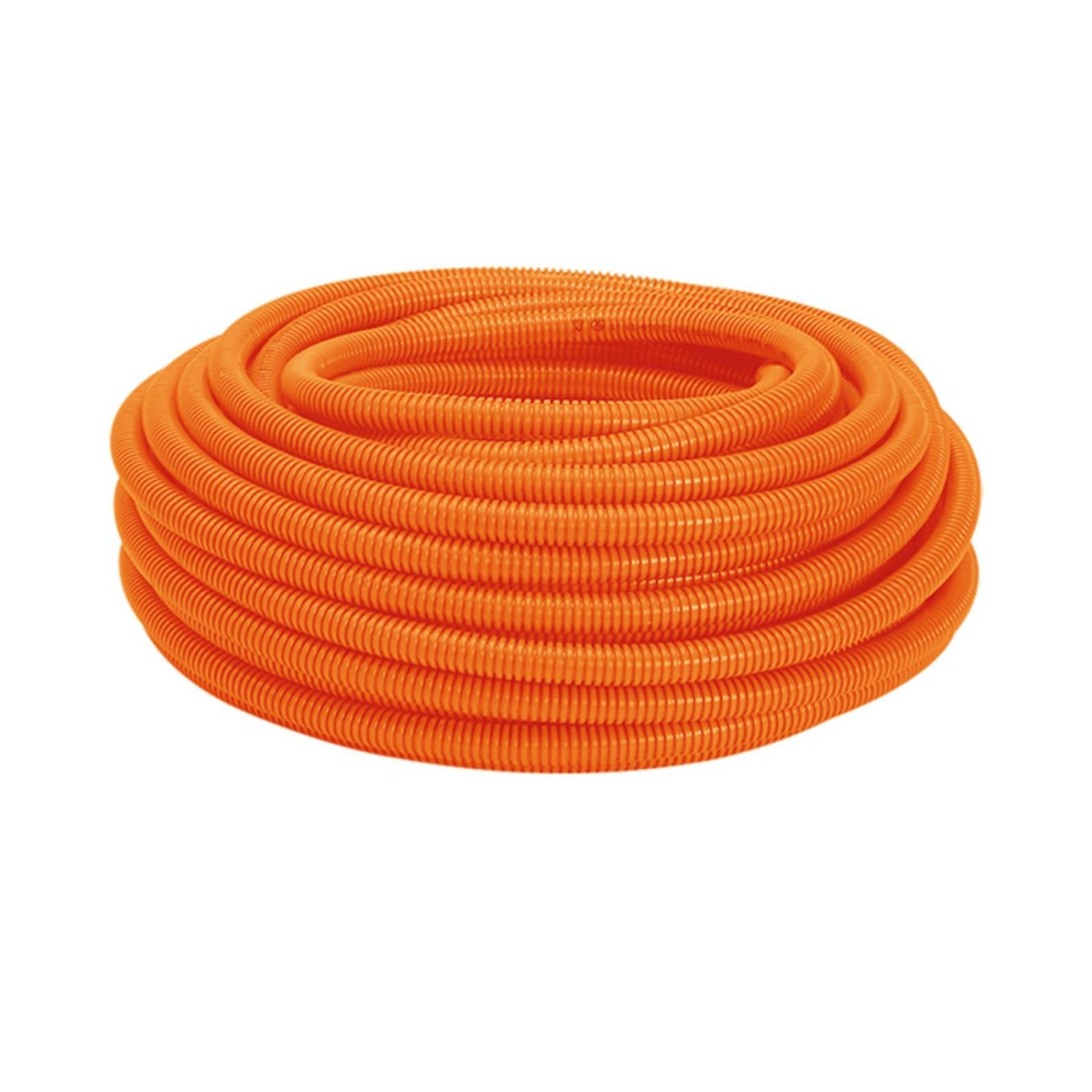 Eletroduto Flexivel Corrugado PVC DN 25 mm x 50m Laranja - Amanco