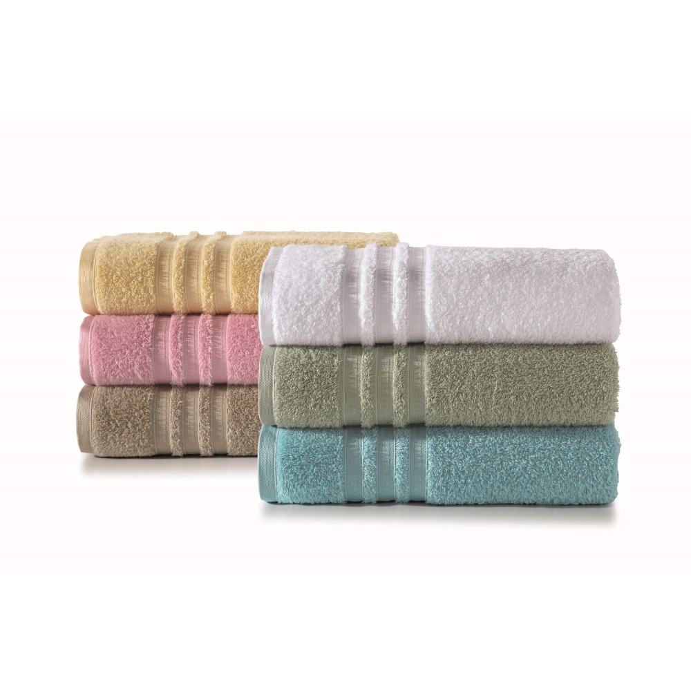 Toalha de Banho Lisa Confort 100 Algodao 70 x 140 cm Branco - Artex