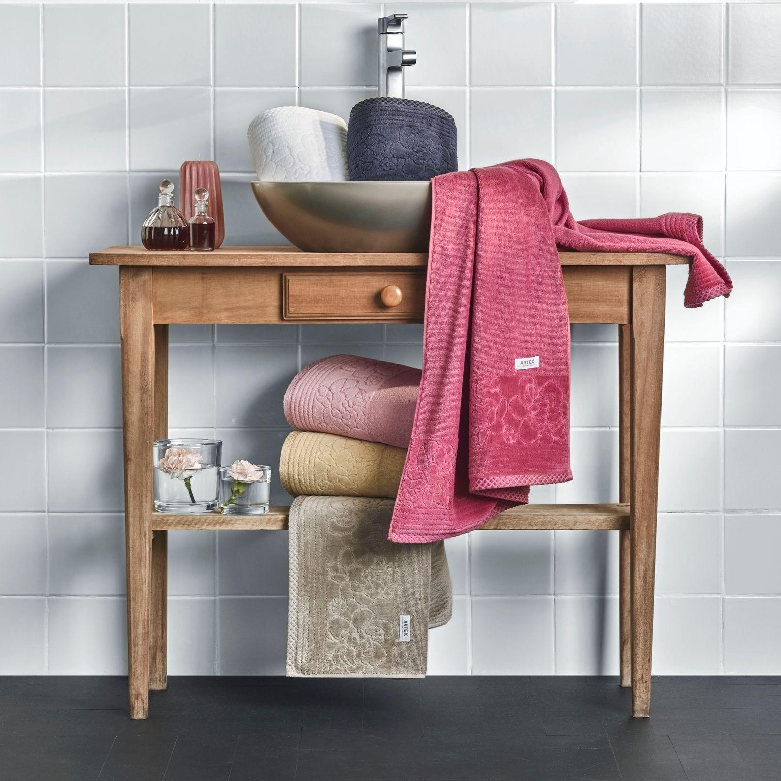 Toalha de Banho Lisa Artex Le Bain 100 Algodao 70 x 140 cm Rose
