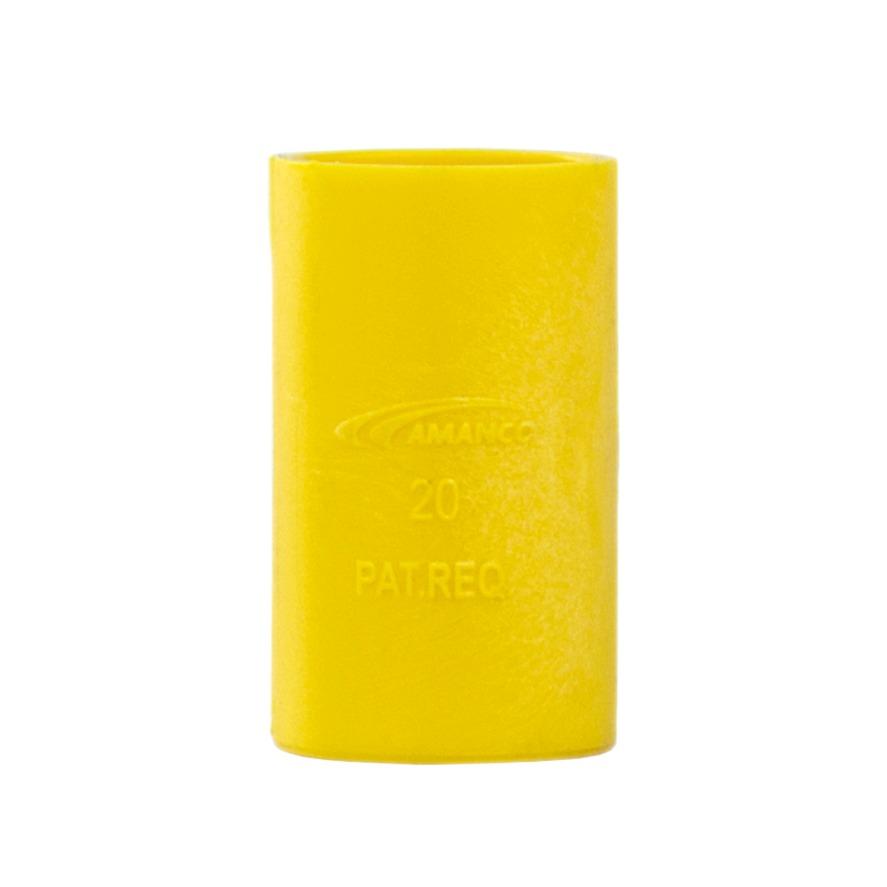 Luva Pressao 12 PVC Antichamas Amarelo - Amanco