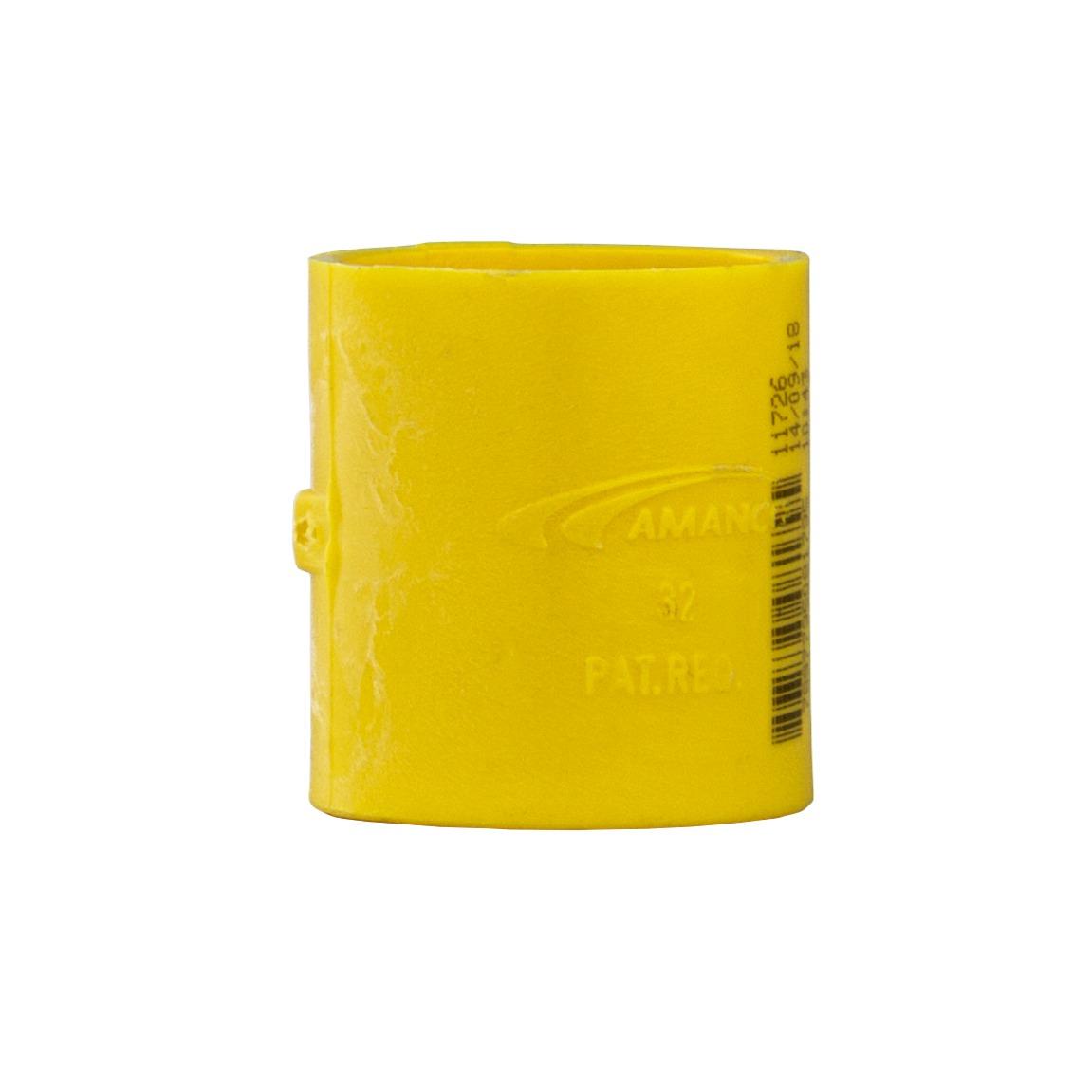 Luva Pressao 1 PVC Antichamas Amarelo - Amanco