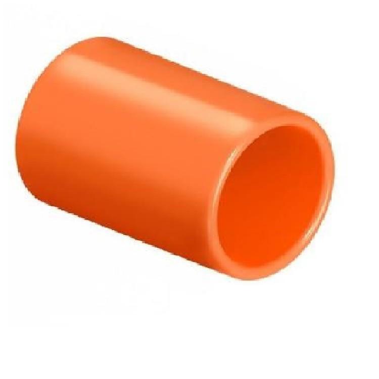 Luva Pressao 1 PVC Antichamas Laranja - Amanco