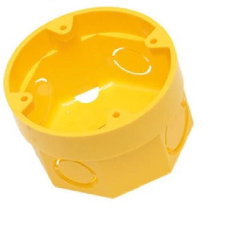 Caixa Eletrica de Plastico 3X3 Amarela Octogonal Flex - Amanco