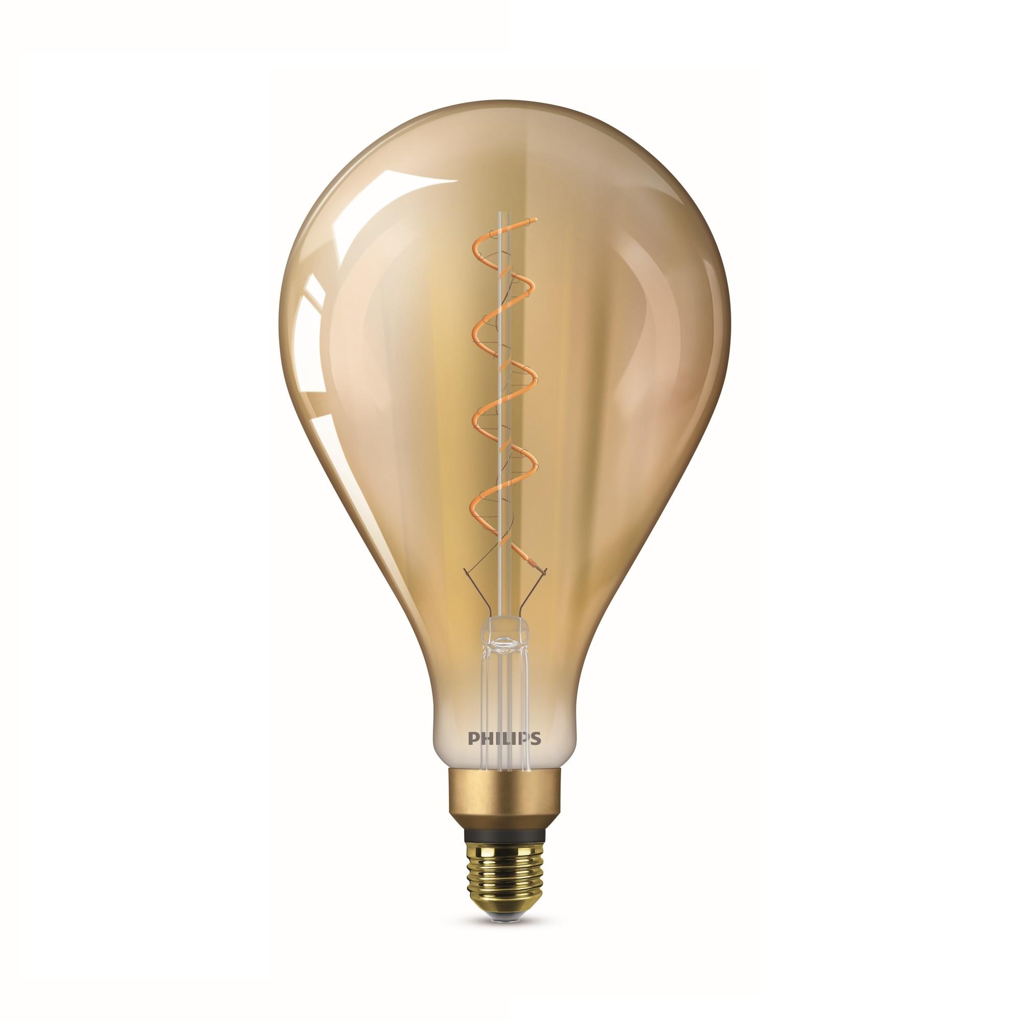 Luminaria de Sobrepor Vidro Amarela Led E27 220V 65W A160 - Philips