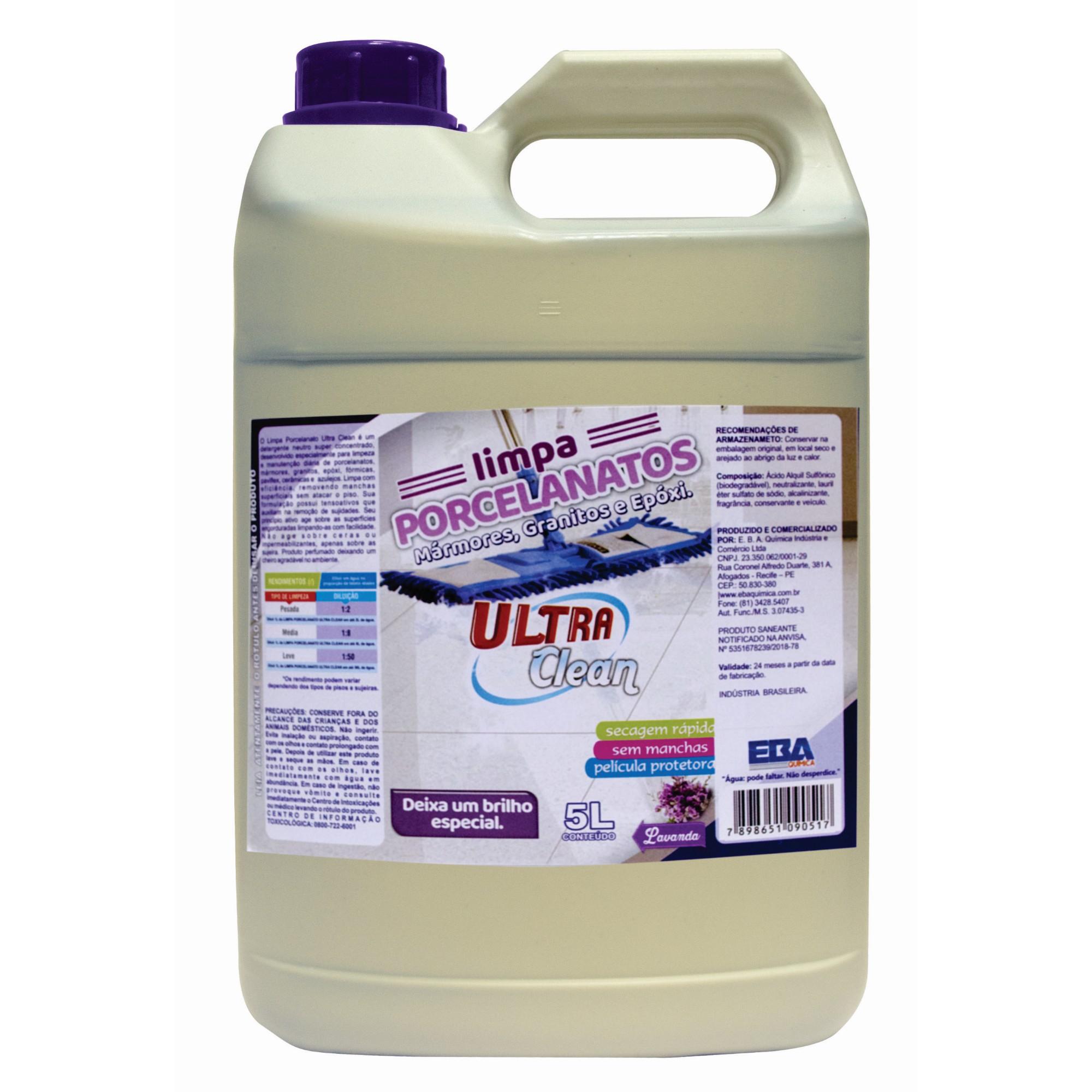 Limpador para Porcelanato Secagem Rapida 50L - Ultra Clean