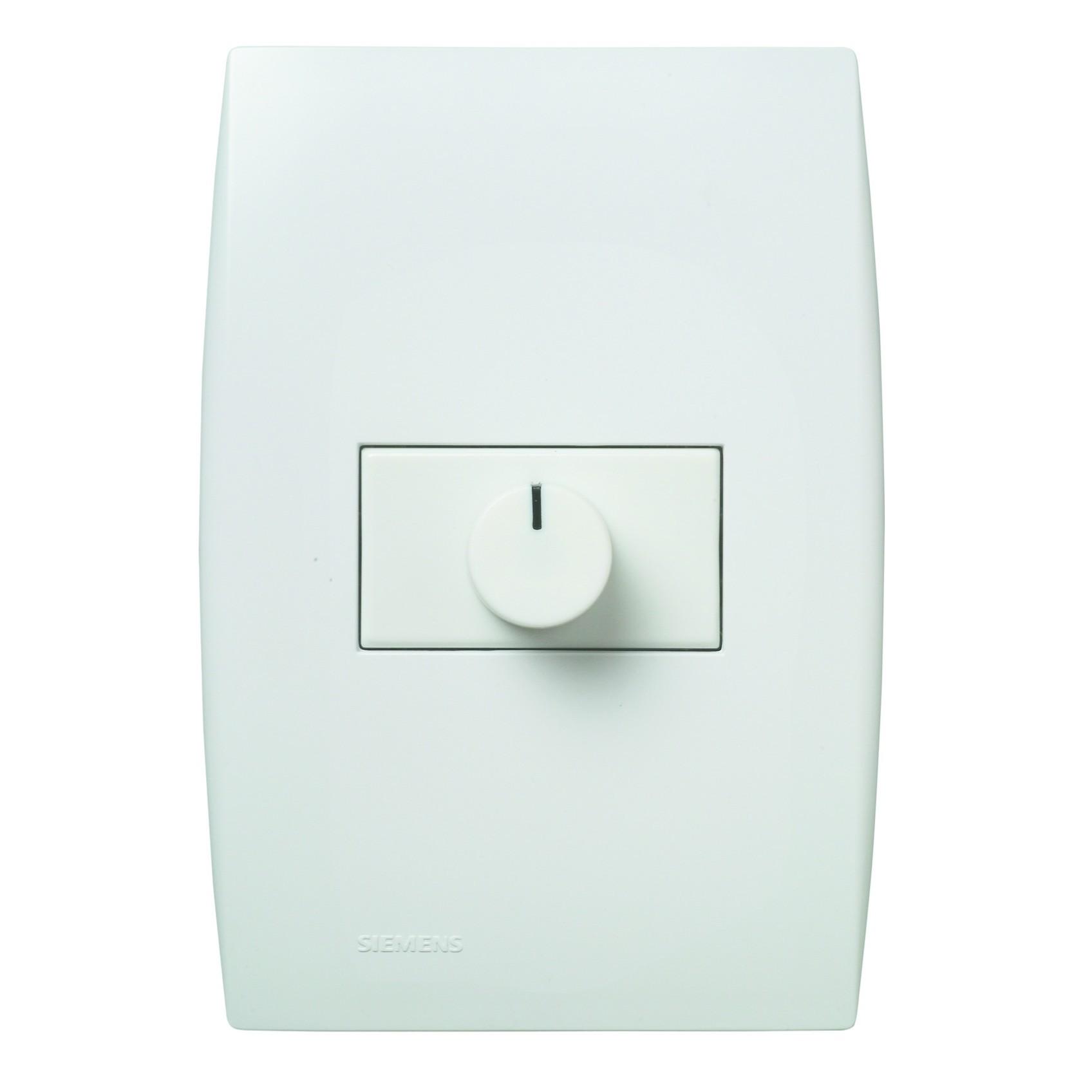 Variador de Luminosidade Rotativo Conjunto Montado de Embutir Bivolt com Placa Branco - Iriel