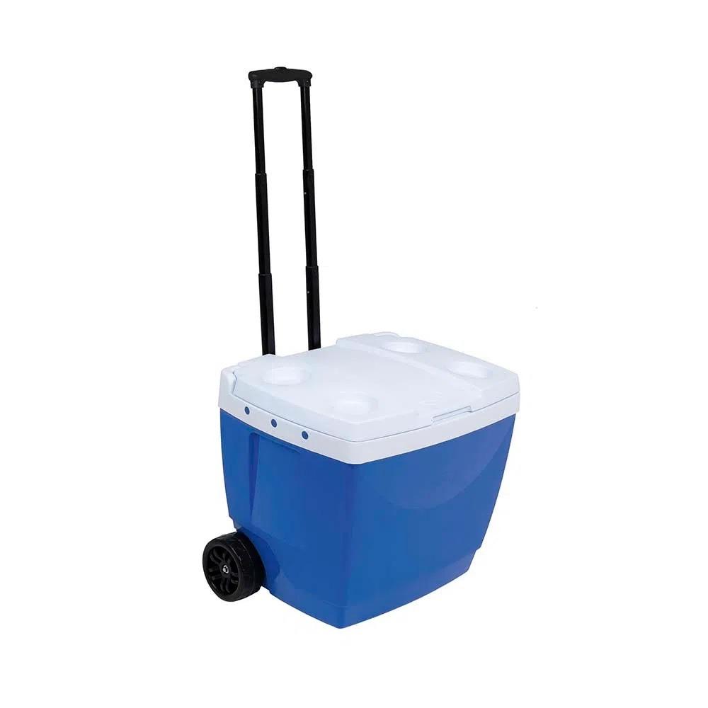 Caixa Termica com Rodinha 42L Polipropileno Azul - Mor