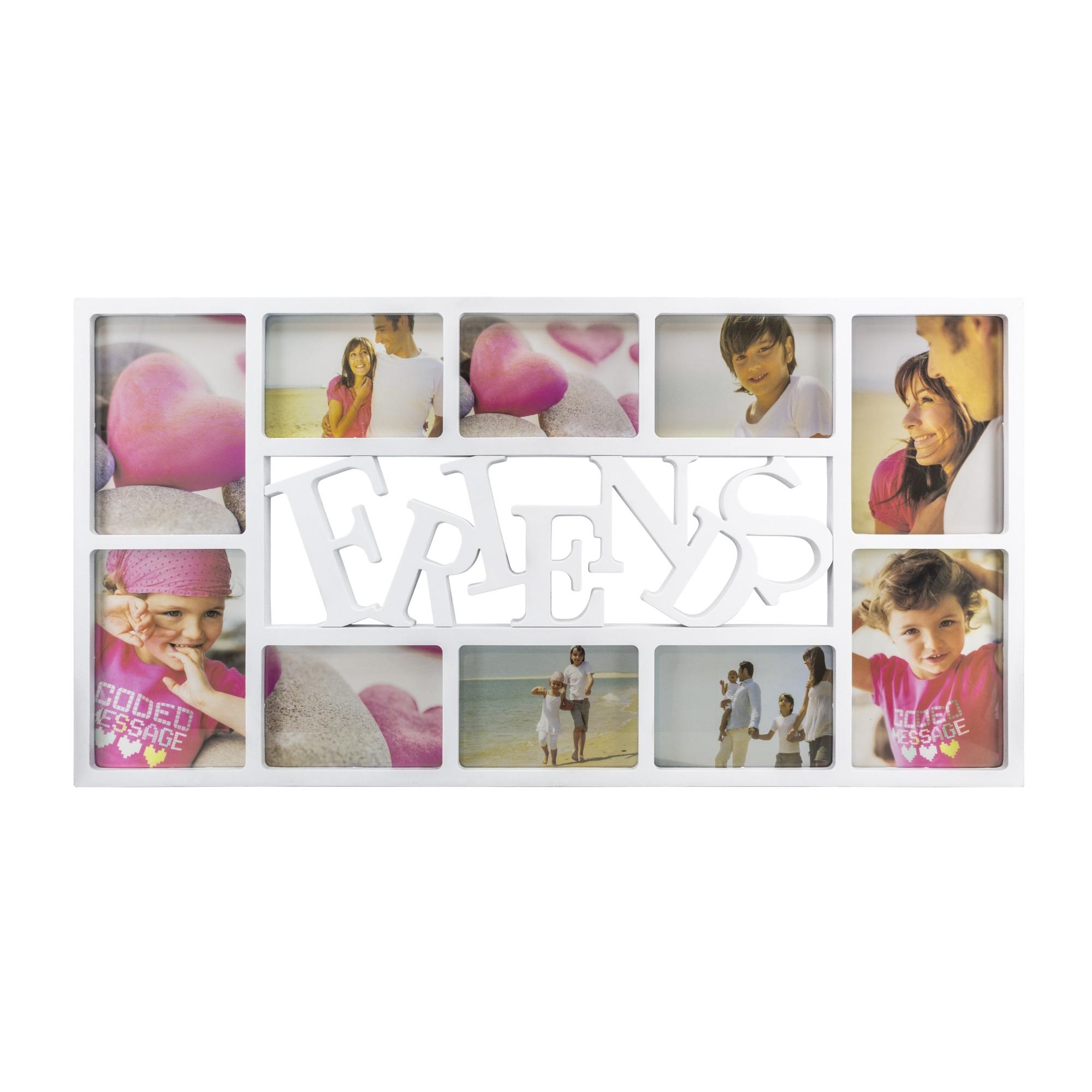 Painel Quadrado Multifotos Branco 73x38x2cm - SPF-203 - Jolie