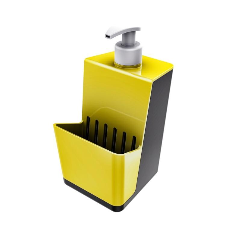 Dispenser com Suporte para Esponja Plastico 500ml Amarelo 40703036 - Crippa