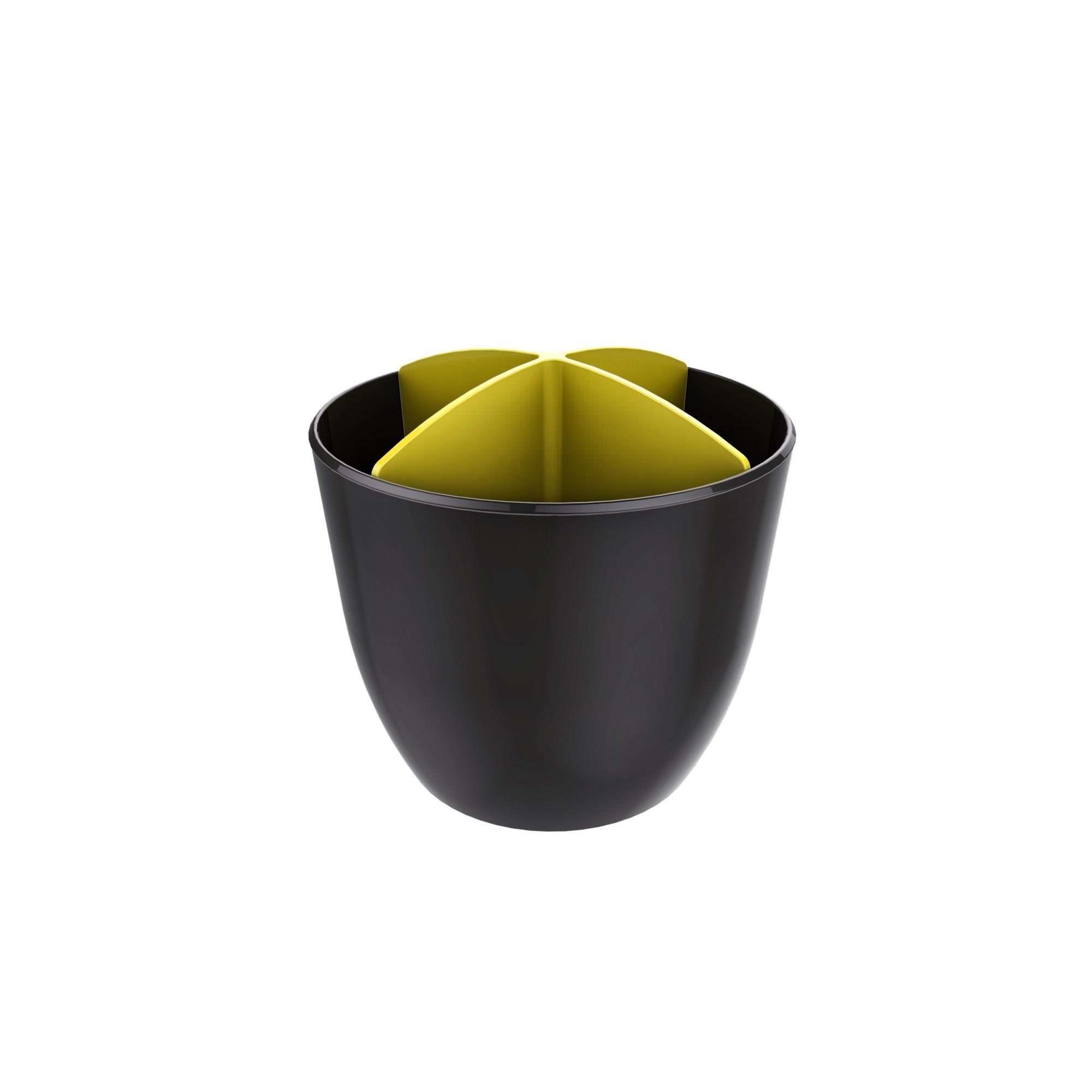 Escorredor de Talheres de Plastico Amarelo - Crippa