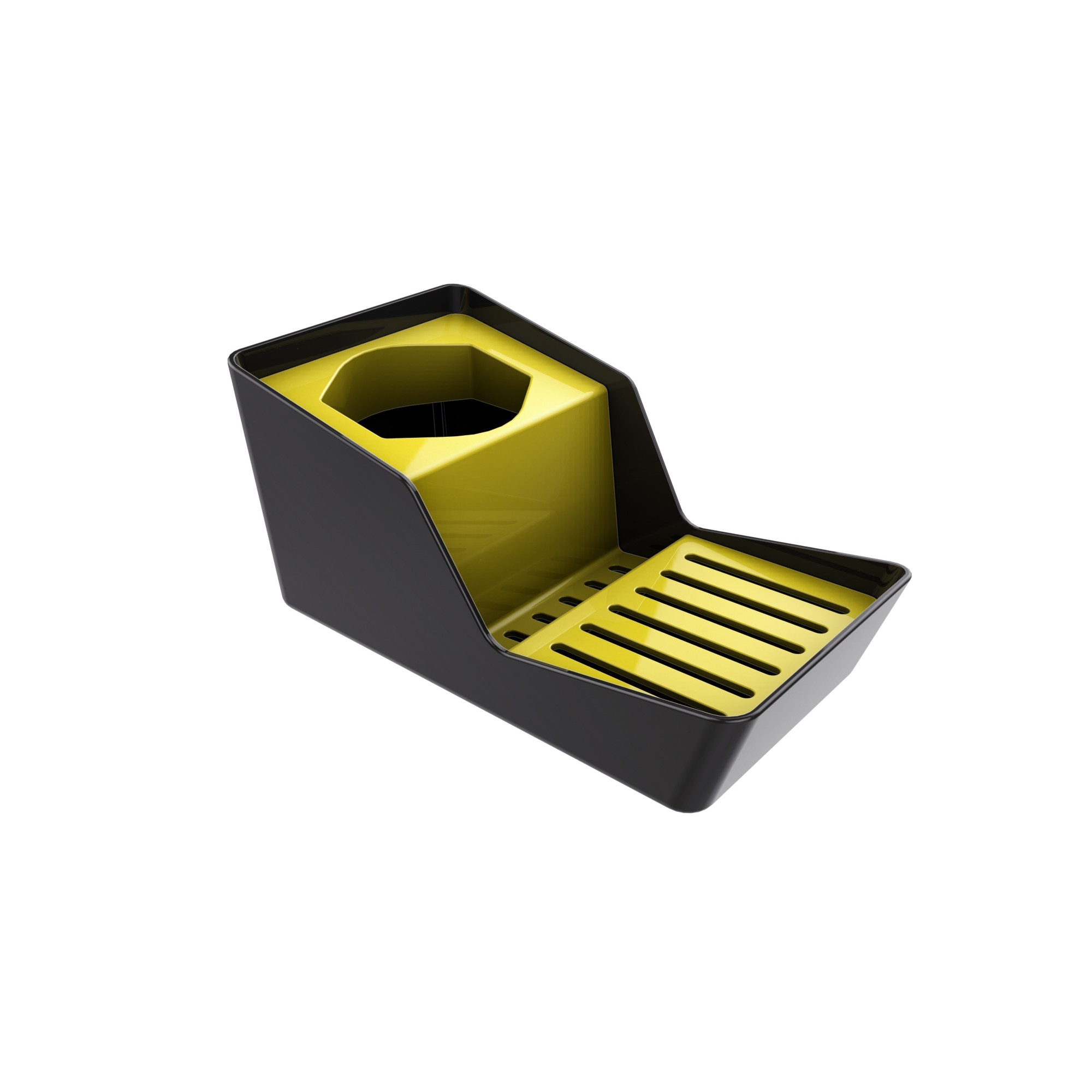 Suporte para Sabao e Esponja Plastico Amarelo 40703038 - Crippa