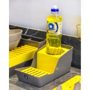 Suporte para Sabão e Esponja Plástico Amarelo 40703038 - Crippa