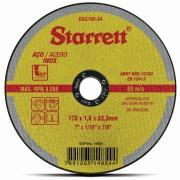 "Disco de Corte Aço Inox 180x1,6x22,2 mm 7"" - Starrett"