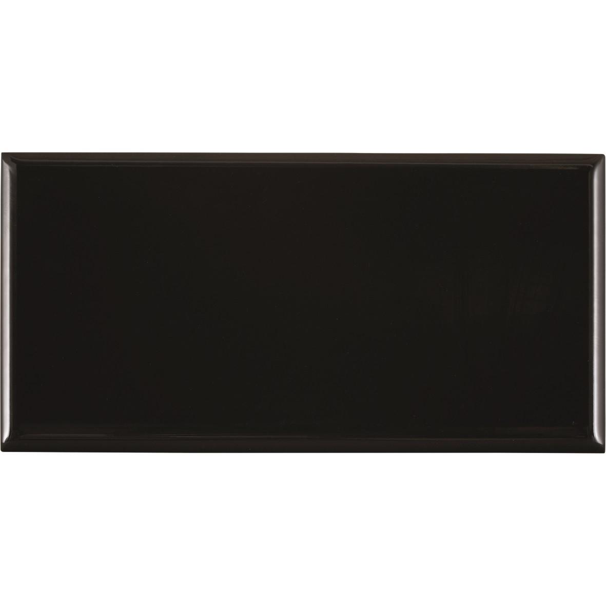 Revestimento Paris Charbon Brilhante Tipo A 10x20 cm 037 m Preto - Portobello