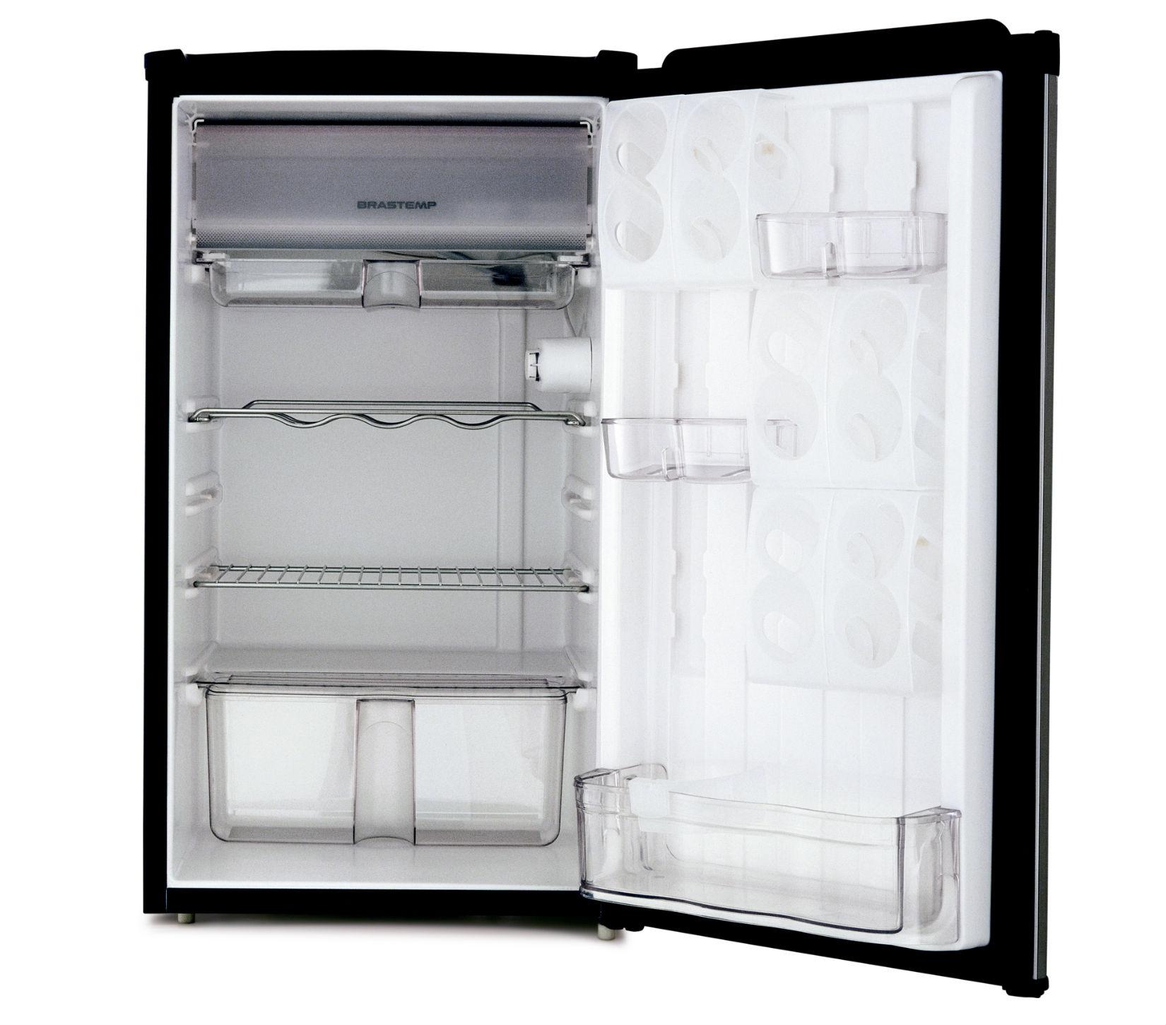 Geladeira/refrigerador 120 Litros 1 Portas Inox - Brastemp - 220v - Brc12xkbna