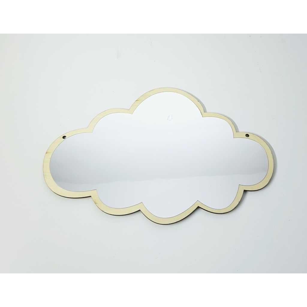 Enfeite Nuvem 25 cm Espelhado - Bras Continental