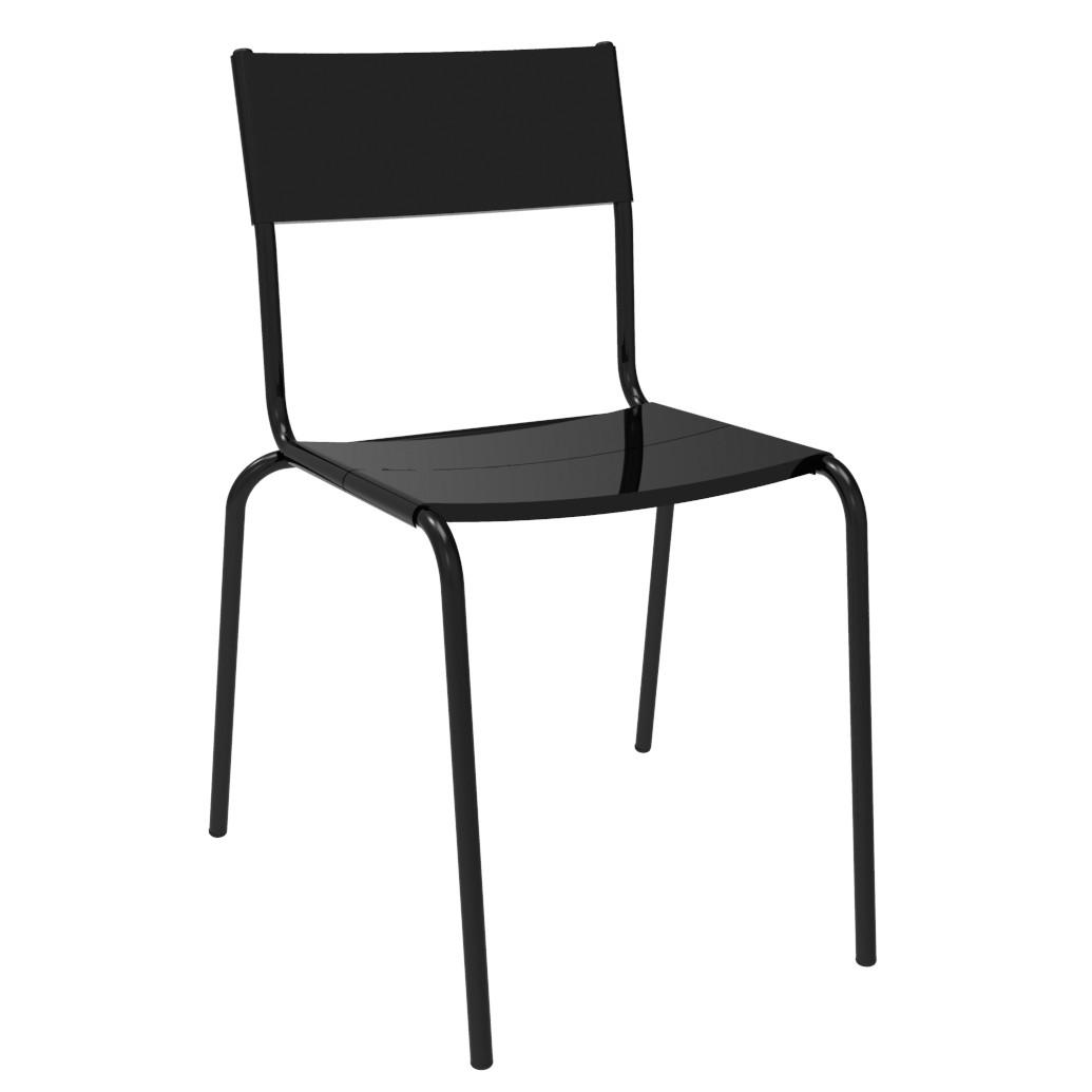 Cadeira de Mesa Aco e Plastico Preta Tutti - Im In Home