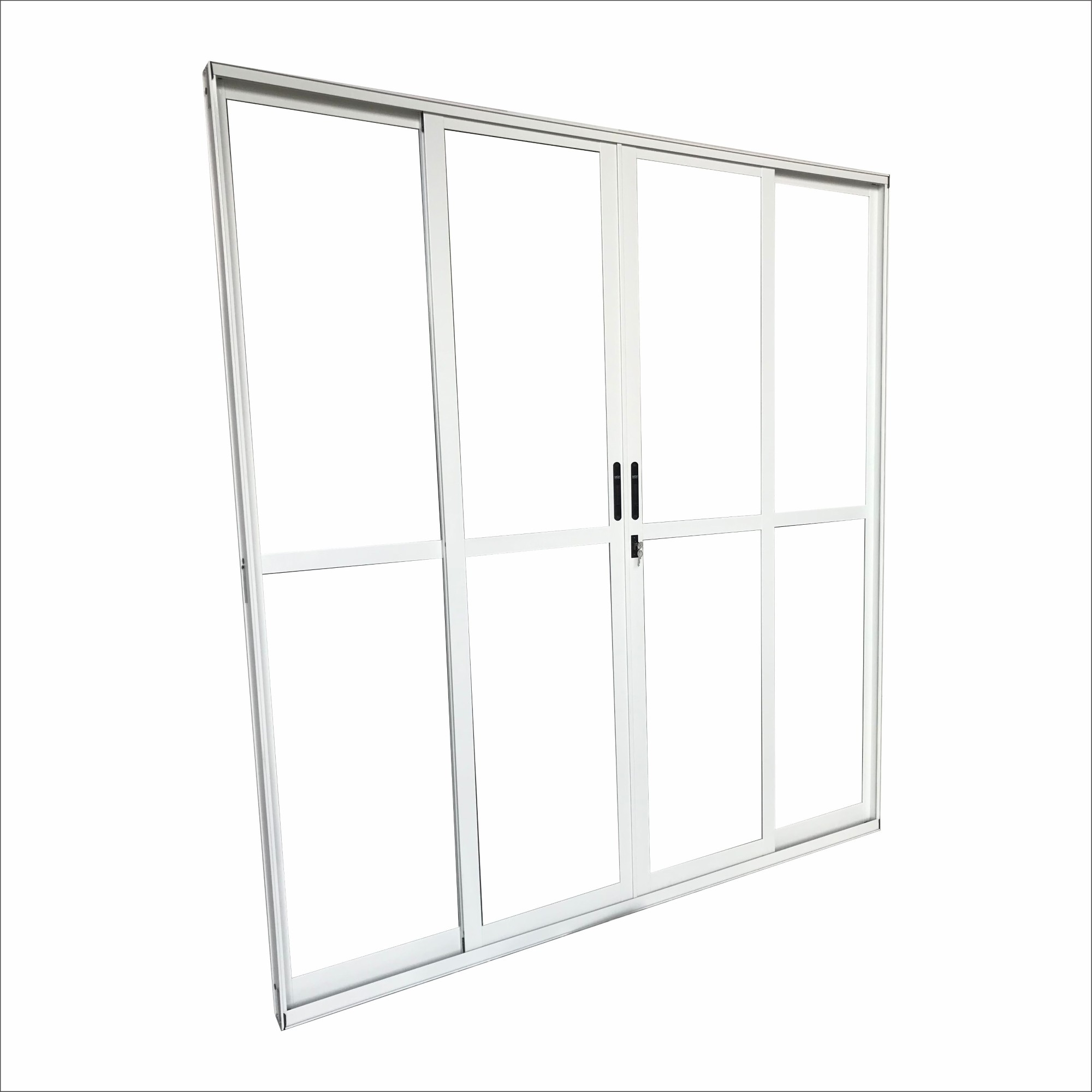 Porta Balcao de Aluminio 4 Folhas 210x200 cm Lisa - MGM