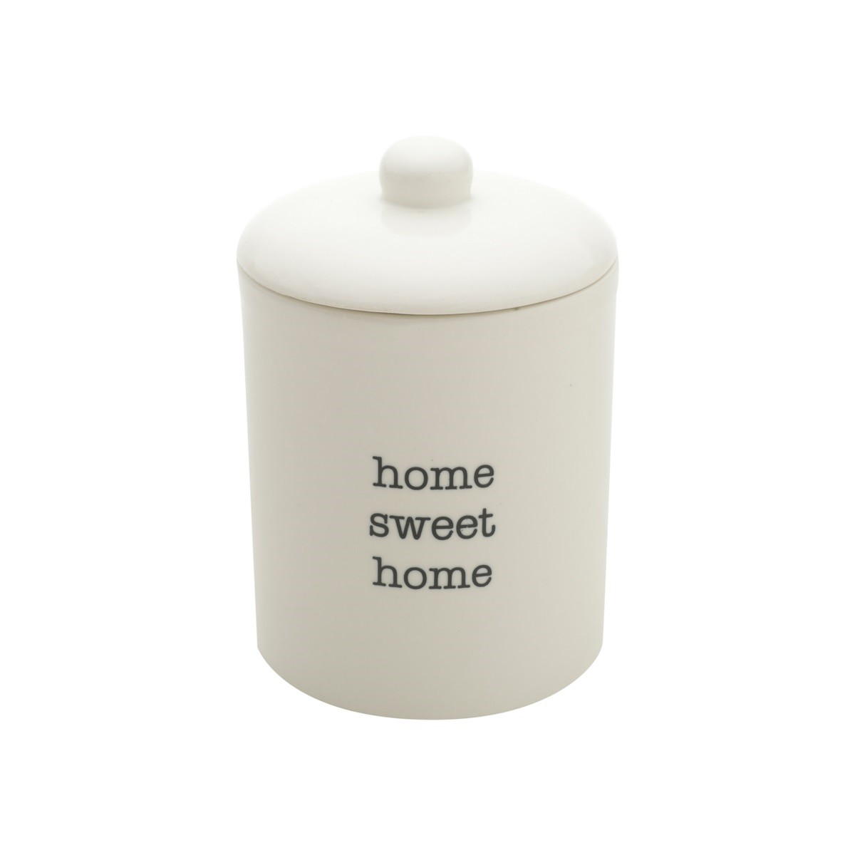 Porta-treco Porcelana 16cm Branco Home Sweet Home - Urban Decor