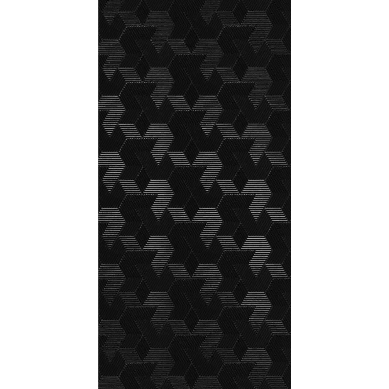 Revestimento Escaleno Gloss Brilhante 45x90cm Preto - Eliane