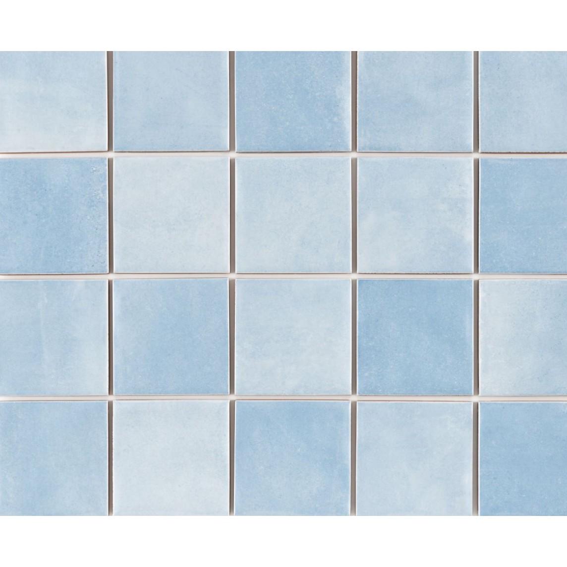 Revestimento Noronha Agua Mesh Brilhante Craquelada 75x75cm 159 m Azul claro - Eliane