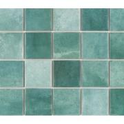 Revestimento Noronha Jade Mesh Brilhante Craquelada 7,5x7,5cm 1,59 m²  Verde - Eliane