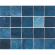 Revestimento Noronha Mar Mesh Brilhante Craquelada 7,5x7,5cm 1,59 m²  Azul - Eliane