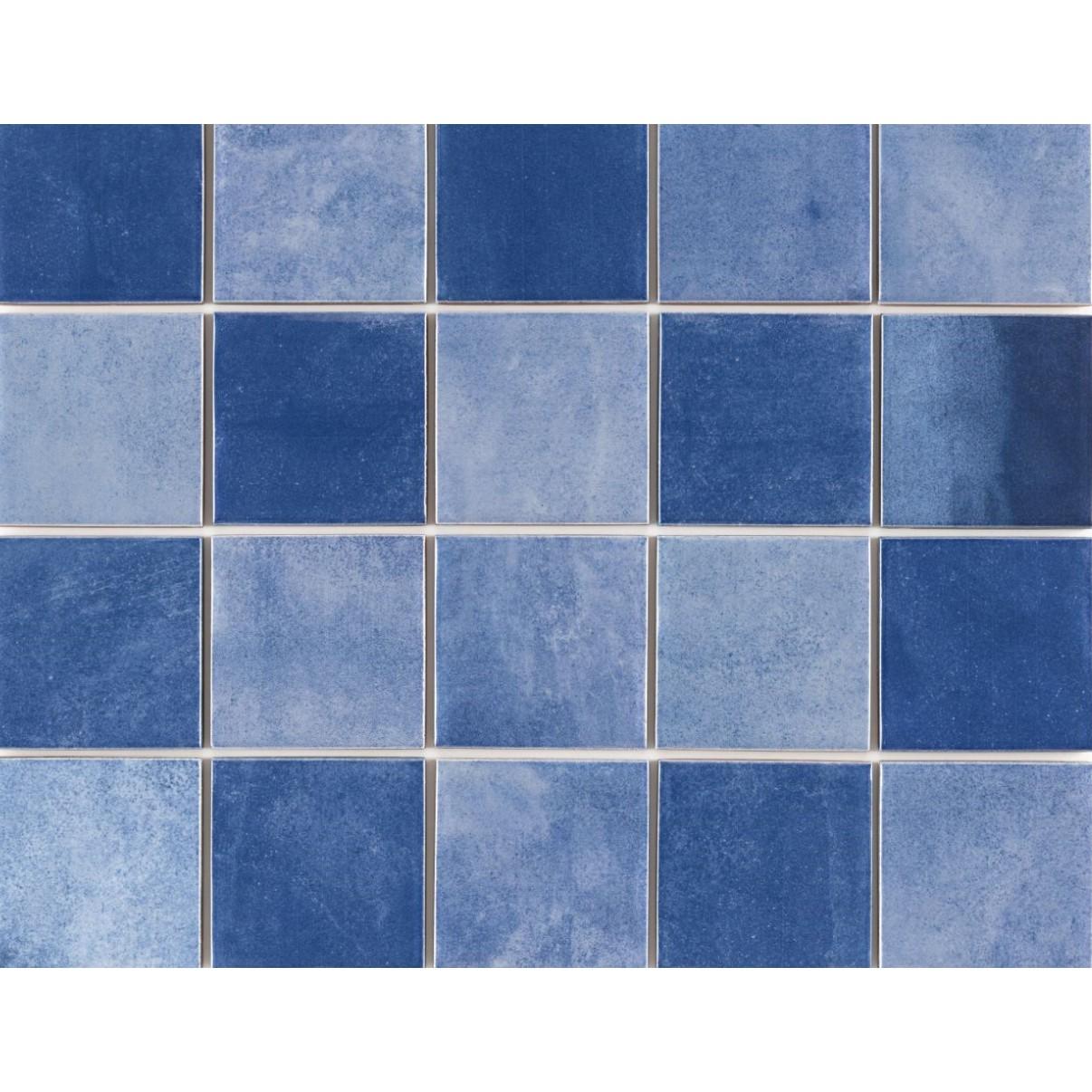 Revestimento Noronha Safira Mesh Brilhante Craquelada 75x75cm 159 m Azul escuro - Eliane