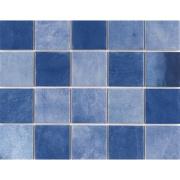 Revestimento Noronha Safira Mesh Brilhante Craquelada 7,5x7,5cm 1,59 m²  Azul escuro - Eliane