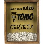 Quadro Porta Tampa 25x20 cm Cerveja Marrom Escuro 797/01 - Art Frame