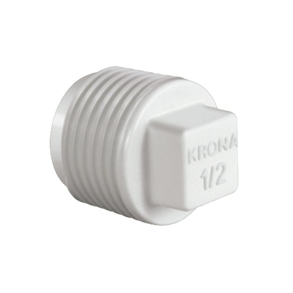 Plug Simples Curto Roscavel PVC 12 - Krona