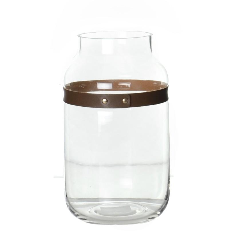 Vaso Decorativo Vidro Redondo Incolor 6688 - Pracaza