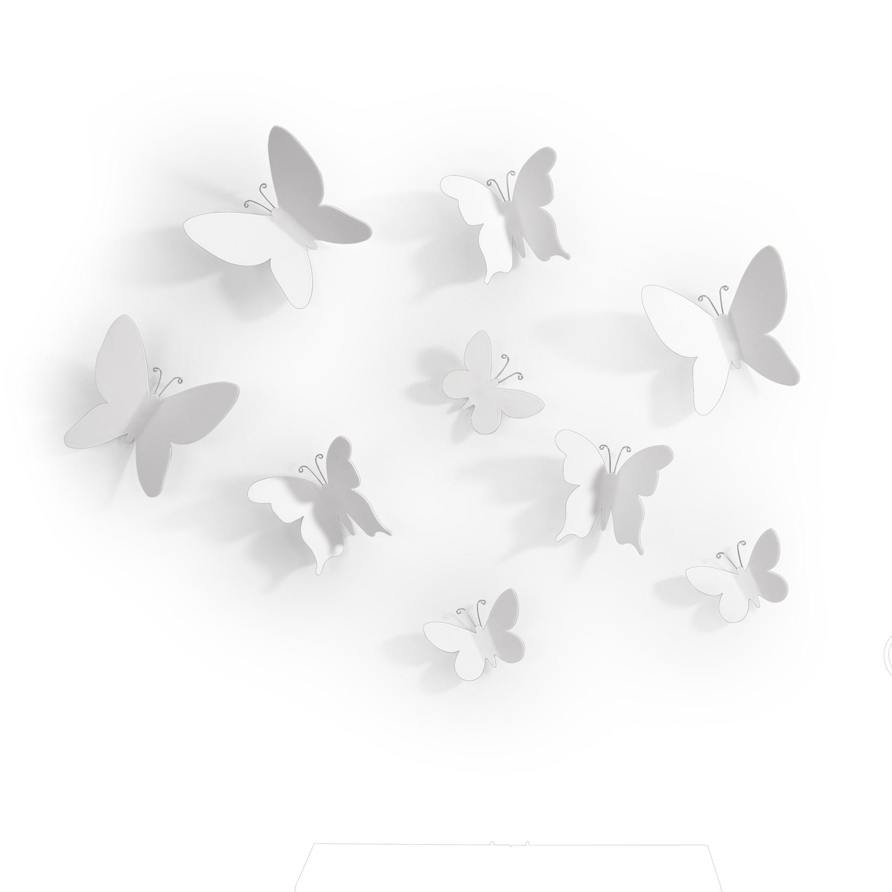 Enfeite de Parede Mariposa 50 cm Branco - Umbra