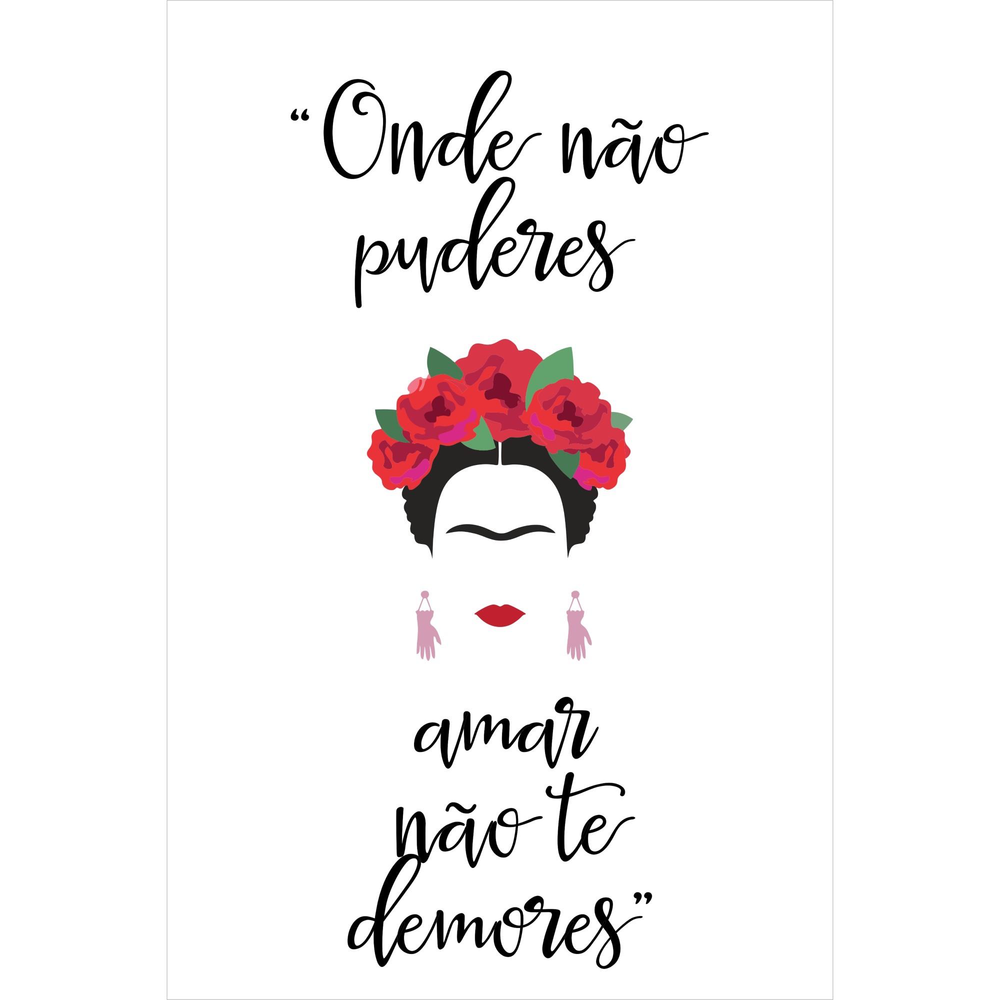 Placa Decorativa 20x30cm Frida Kahlo 68952 - Kapos