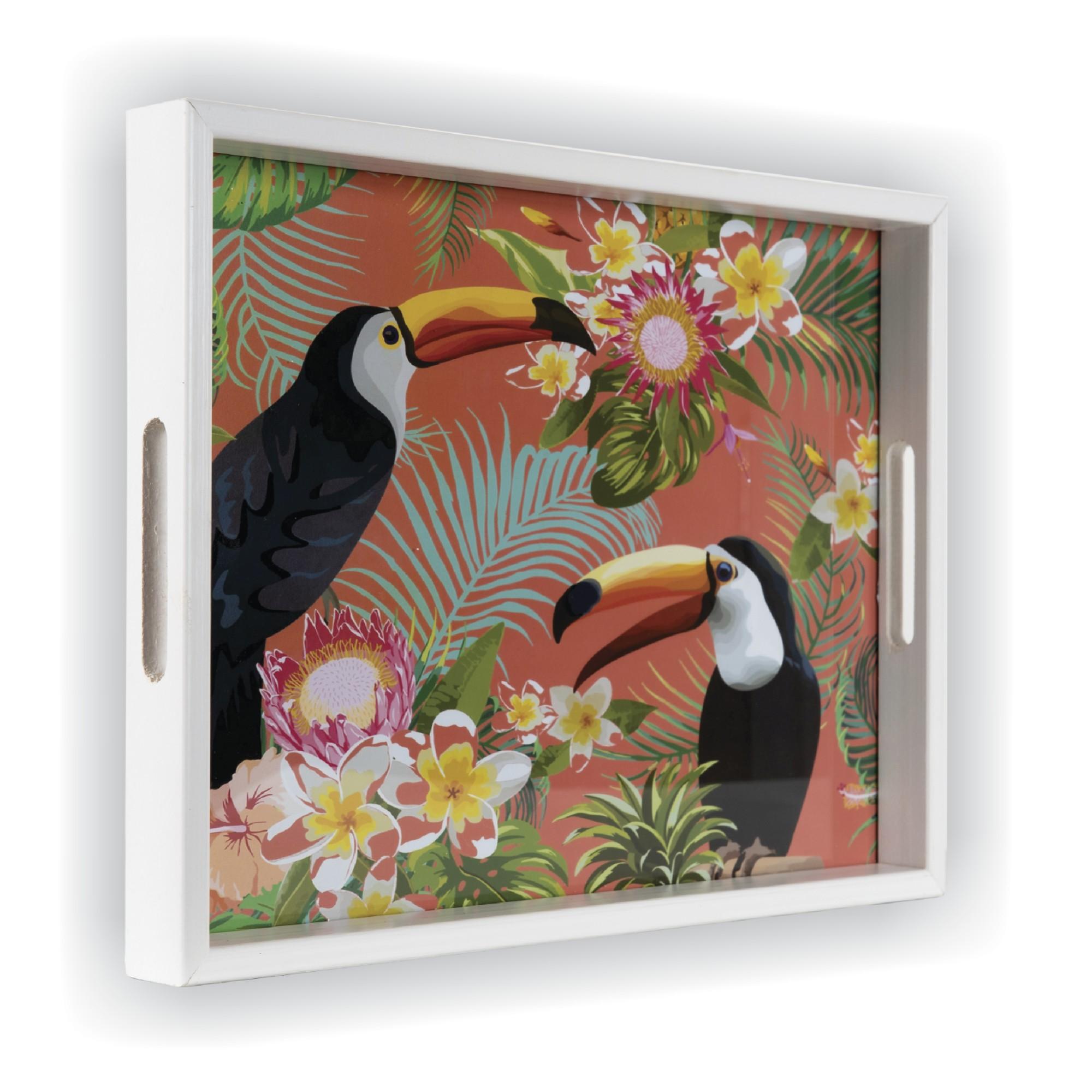 Bandeja Luxo Retangular de Madeira 25x35cm com Alca - 3538 - Art Frame