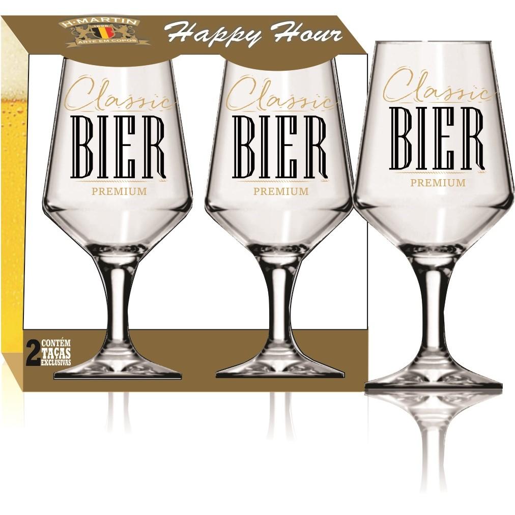 Jogo de Tacas de Vidro Brunello Bier 2 Tacas 400ml - H Martin