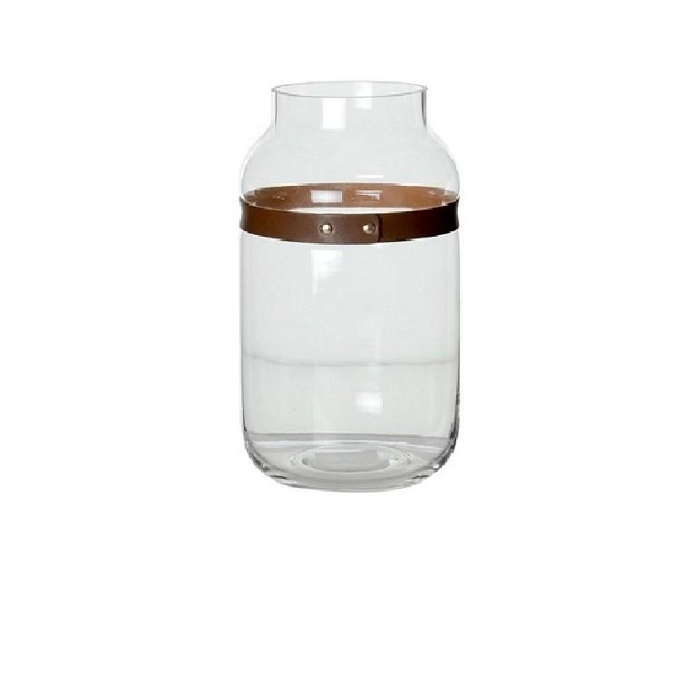 Vaso Decorativo Vidro Redondo Incolor 6689 - Pracaza