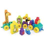 Brinquedo Educativo Trem Puxa Zoo - Dismat