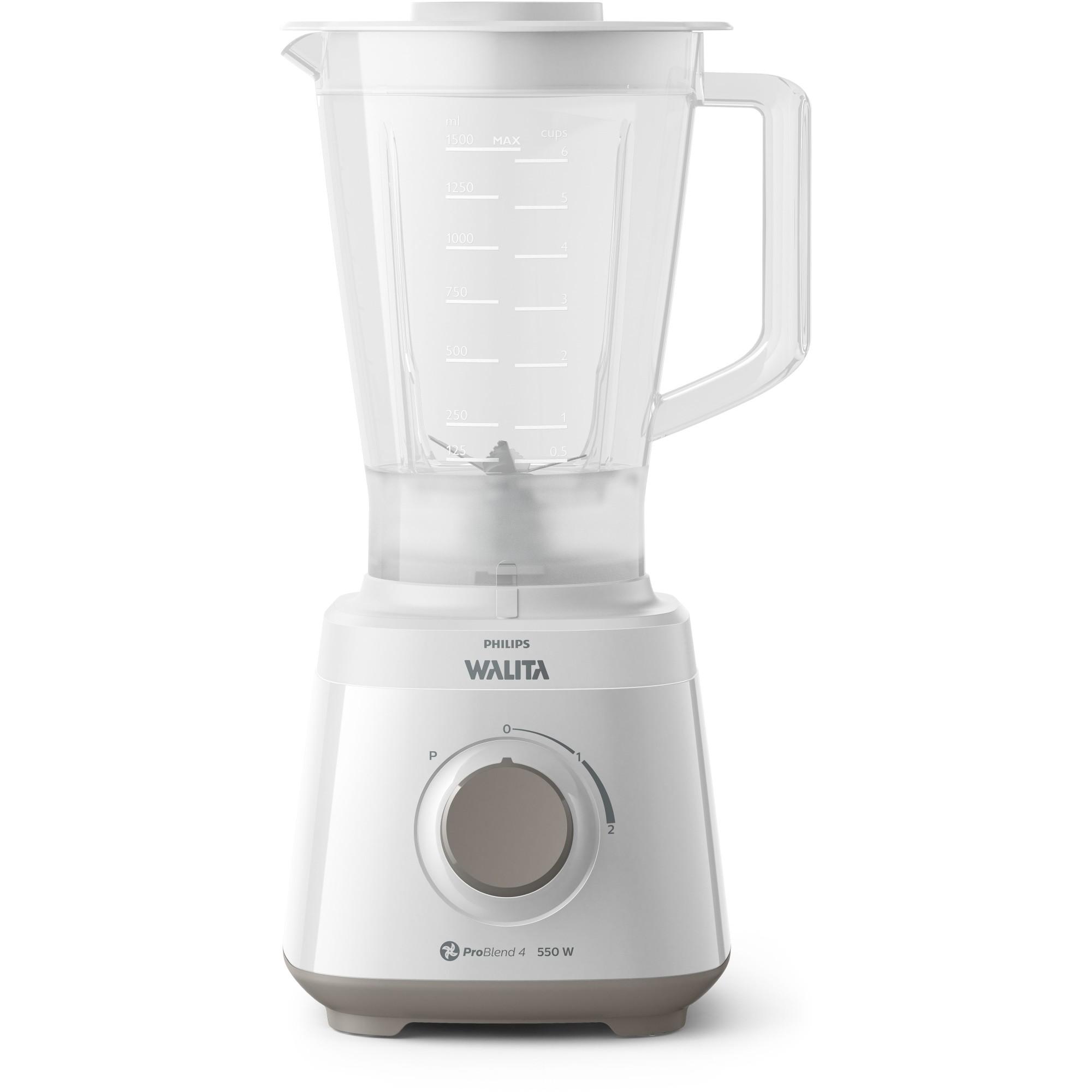 Liquidificador Philips Walita Daily Pro Blend 550W Branco 2 Velocidades 220V - RI211000