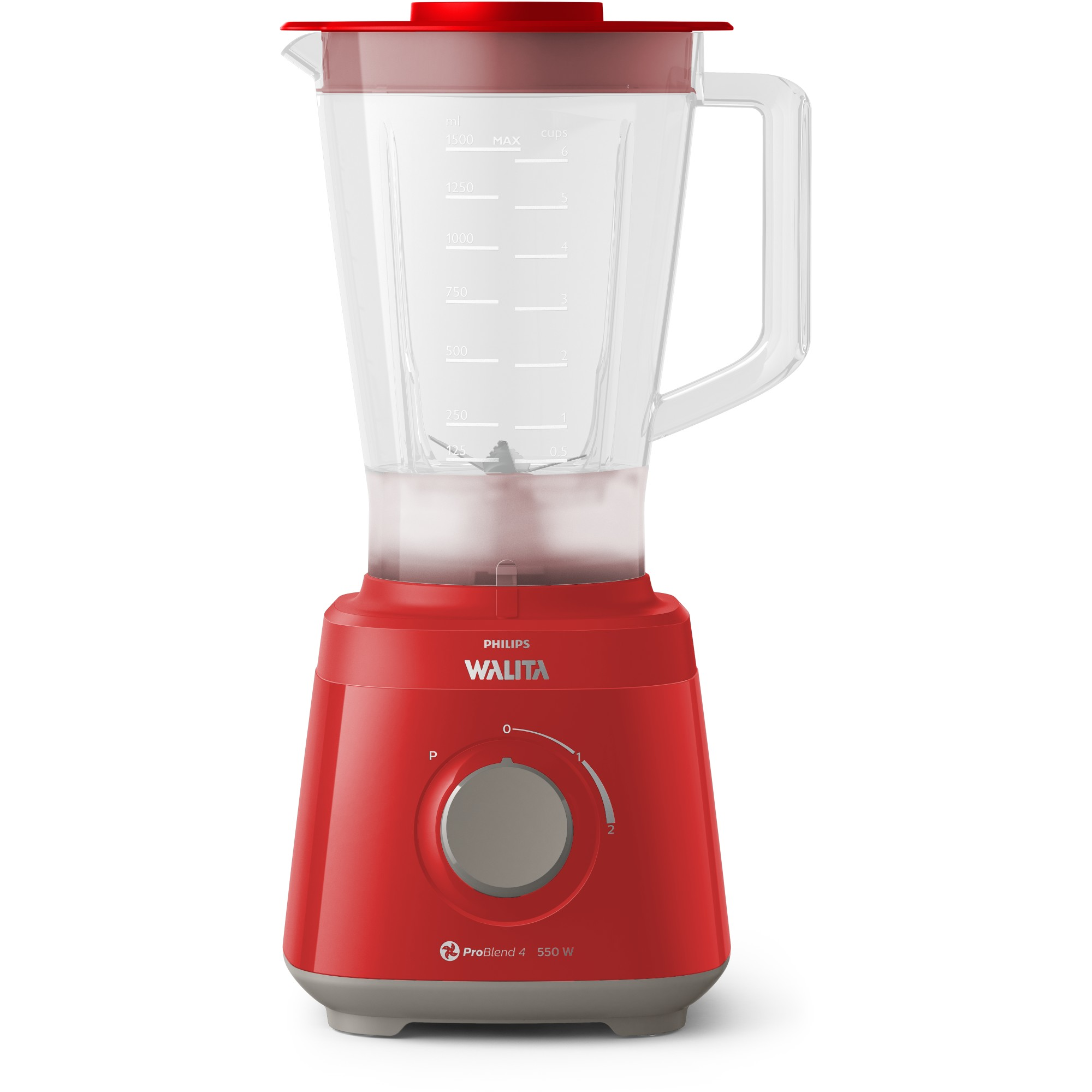 Liquidificador Philips Walita Blender 550w Vermelho 2 Velocidades 220V RI211040