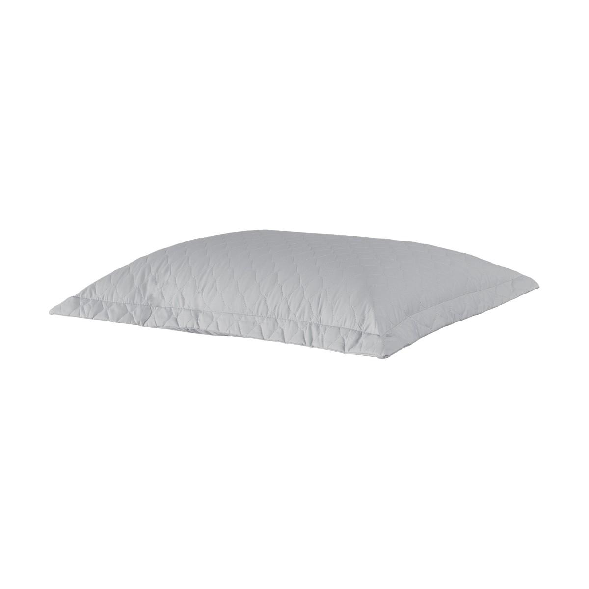 Porta Travesseiro Percal 200 Fios Cinza Claro 50 x 70 cm - Juma