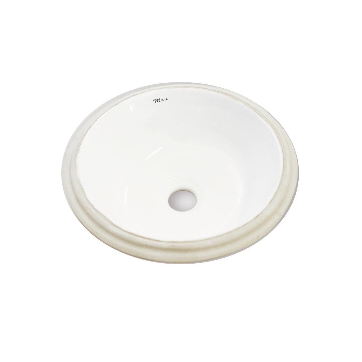 Cuba de Louca de Embutir Oval 30x30 cm Gardenia Branca - Mari
