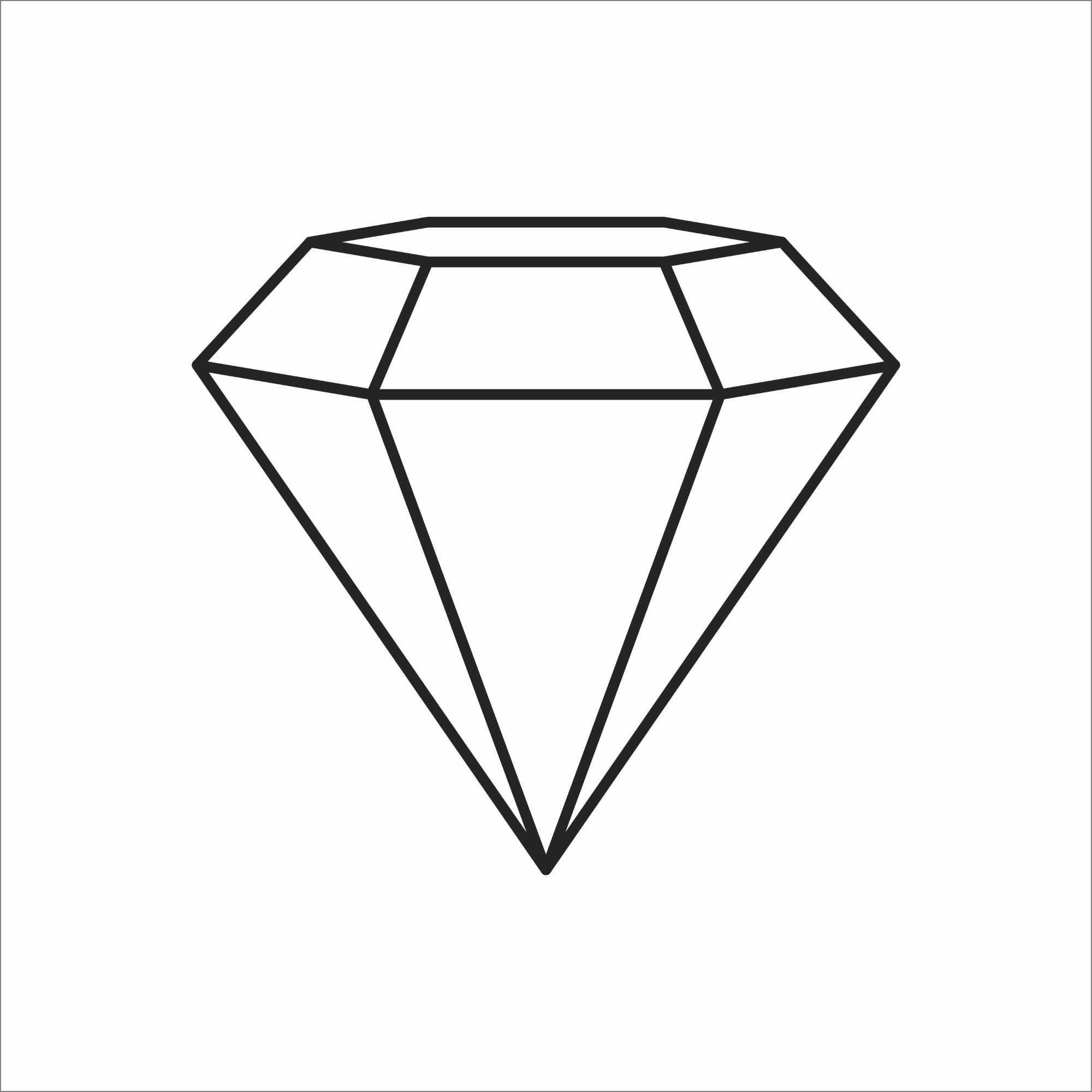 Placa Decorativa em MDF 25x25cm Diamante 68707 - Kapos