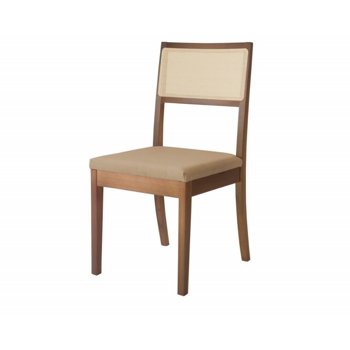 Cadeira Estofada de Mesa Linho Bege 1831 - Herval