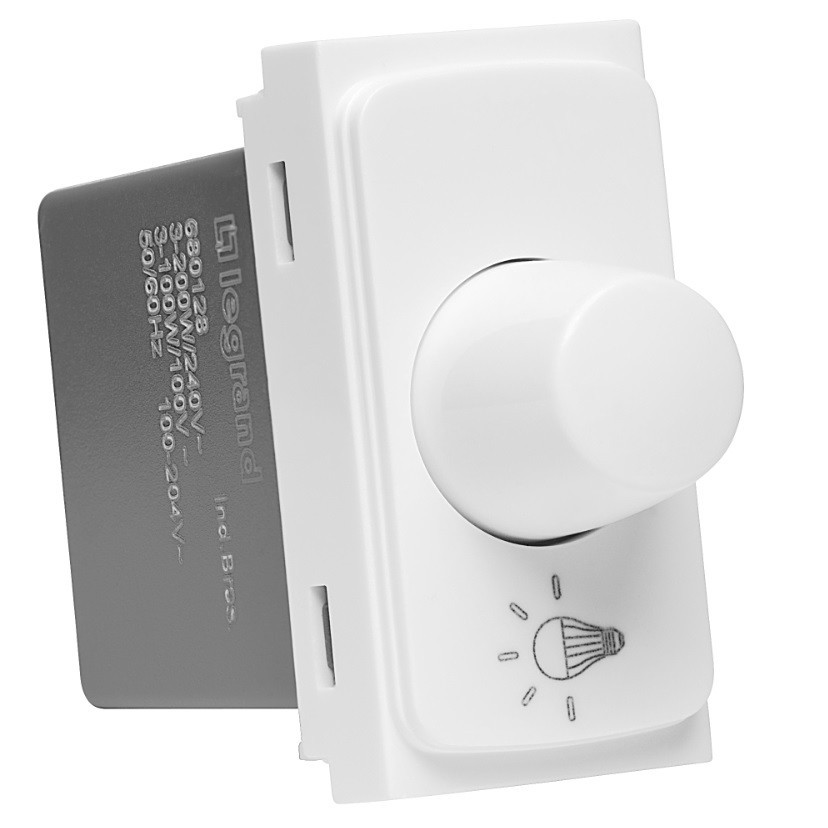 Variador de Luminosidade Rotativo Modular de Embutir Bivolt Zeffia 680129 - Legrand
