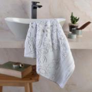 Toalha de Banho Le Bain Leaf 100% Algodão 70 x 140 cm Branco - Artex