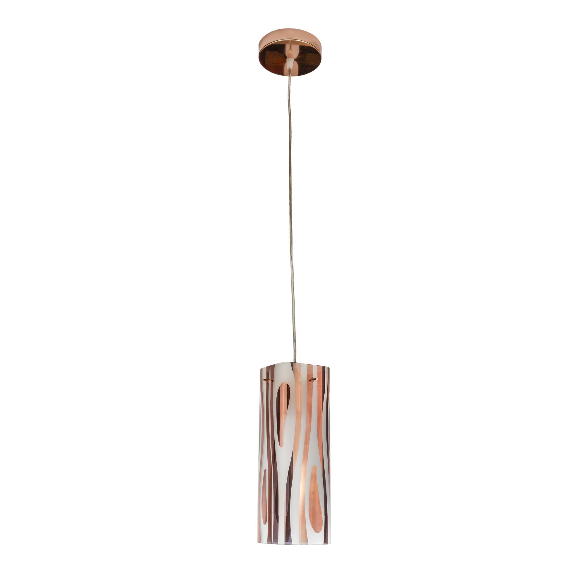 Pendente Aco e Vidro Zebra Quadrado 1 Lampada - Bronzearte