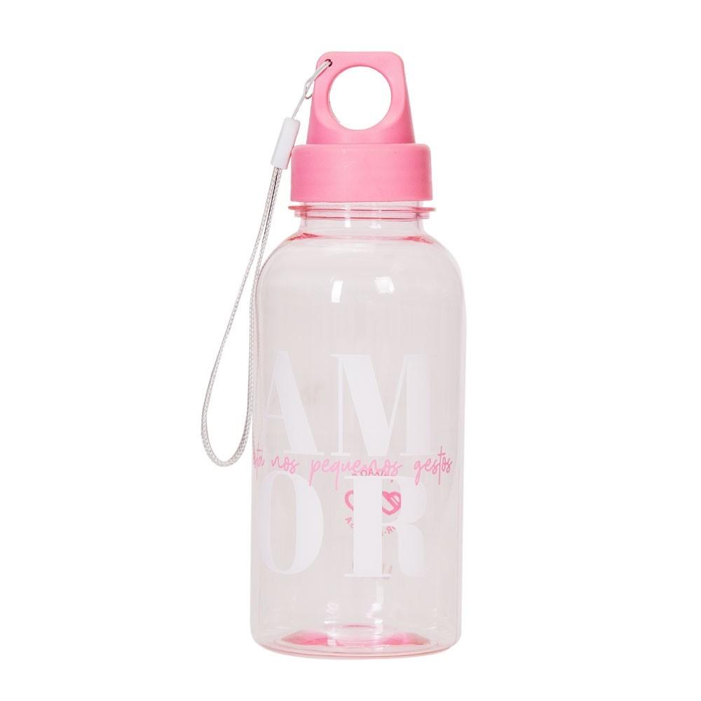 Garrafa Squeeze de Plastico 450ml Rosa - Uatt