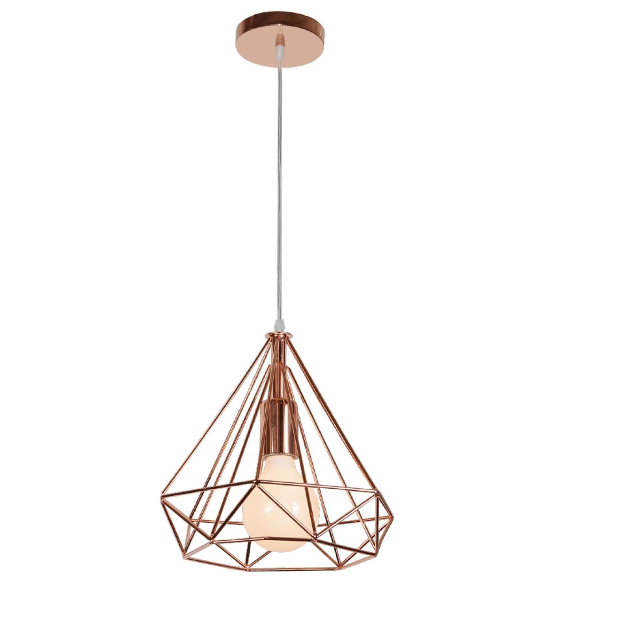 Pendente Tetra 30x25cm 1 Lampada Cobre - Llum